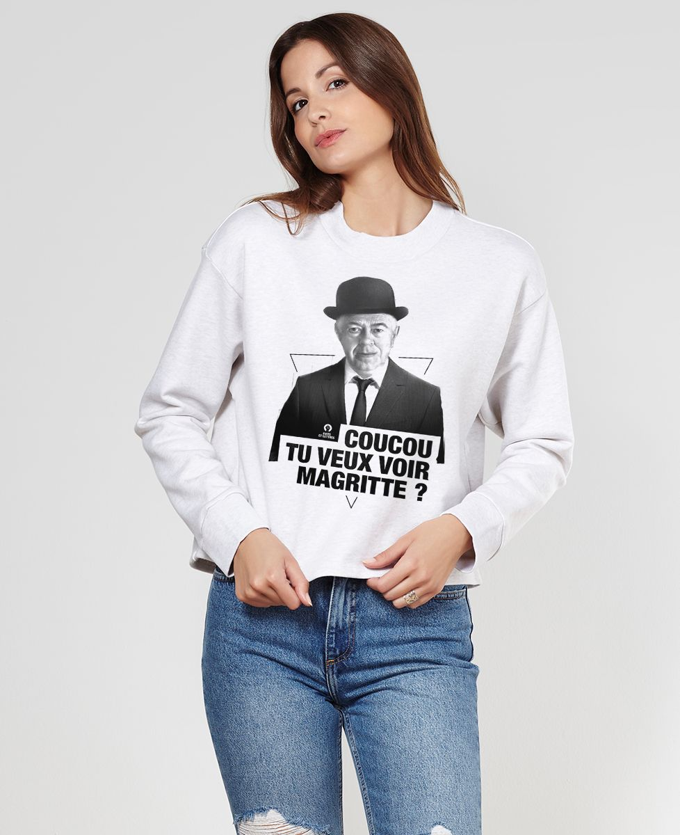 Sweatshirt femme Magritte cut
