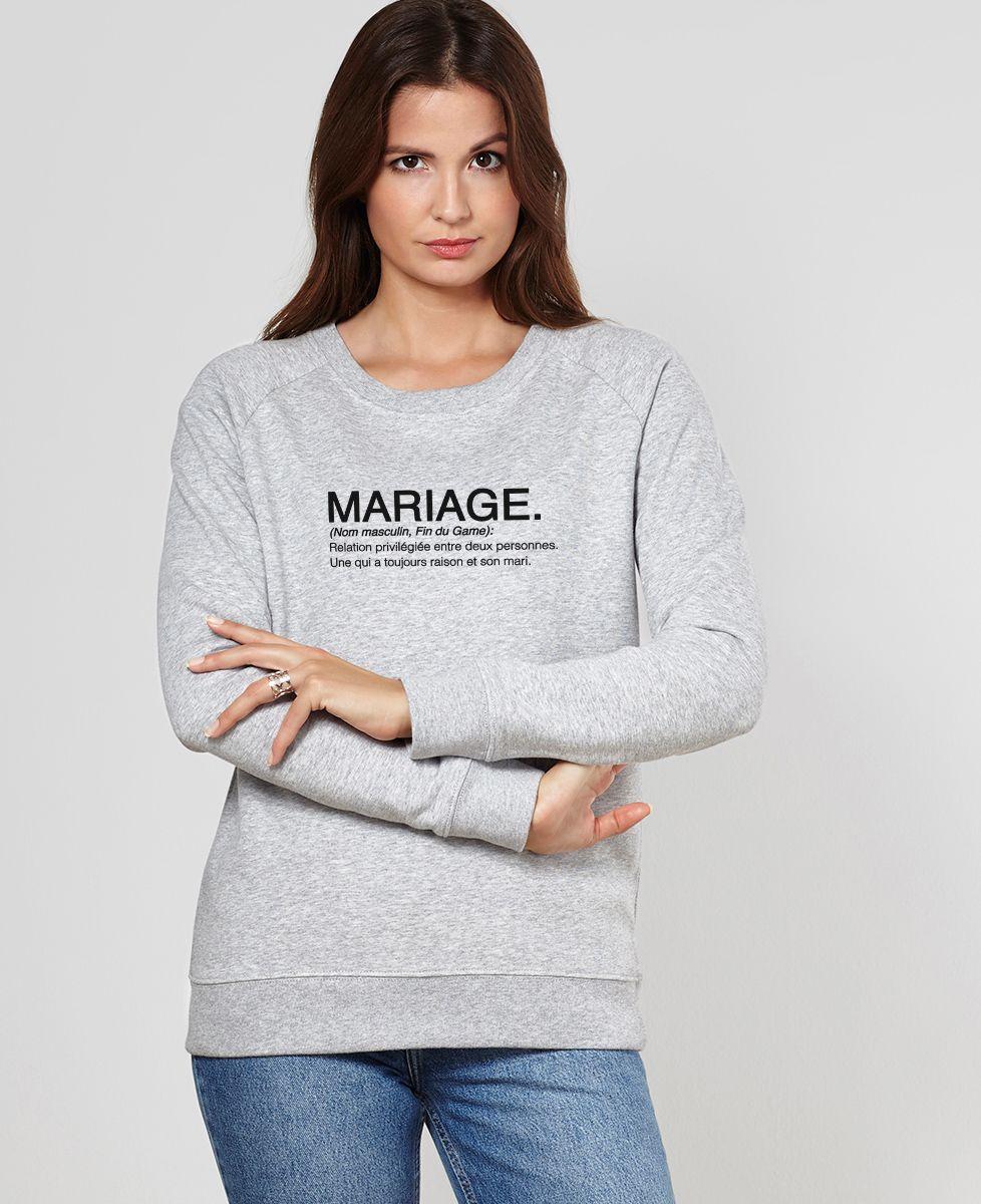 Sweatshirt femme Mariage