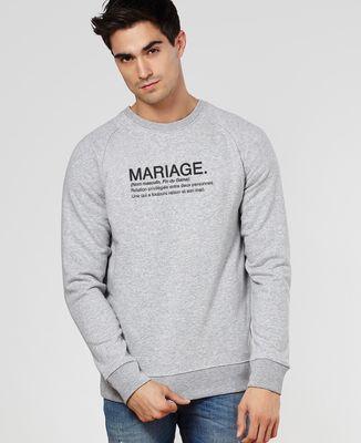 Sweatshirt homme Mariage