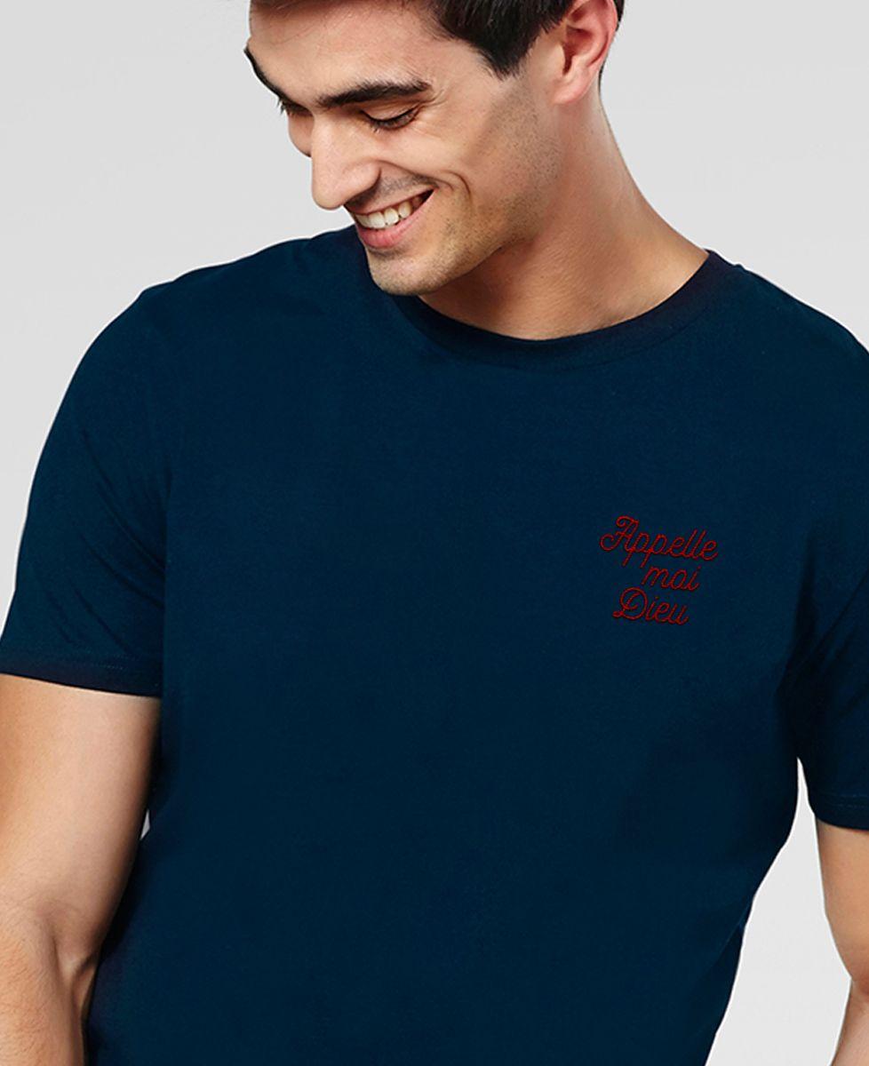 T-Shirt homme Appelle-moi Dieu brodé