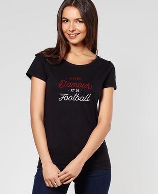 T-Shirt femme Vivre d'amour et de football