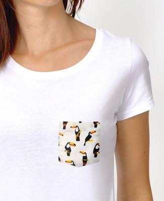 T-Shirt femme T-shirt à poche Toucan
