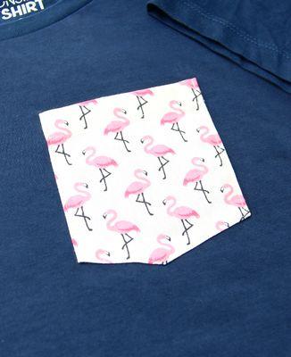 T-Shirt femme T-shirt à poche Flamant rose