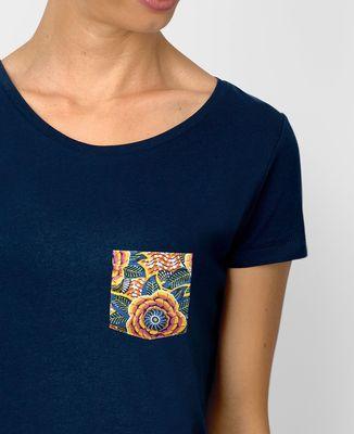 T-Shirt femme T-shirt à poche Summer Flower
