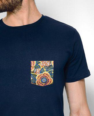 T-Shirt homme T-shirt à poche Summer Flower