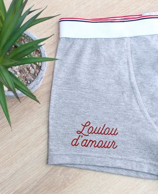 Boxer Loulou d'amour (brodé)
