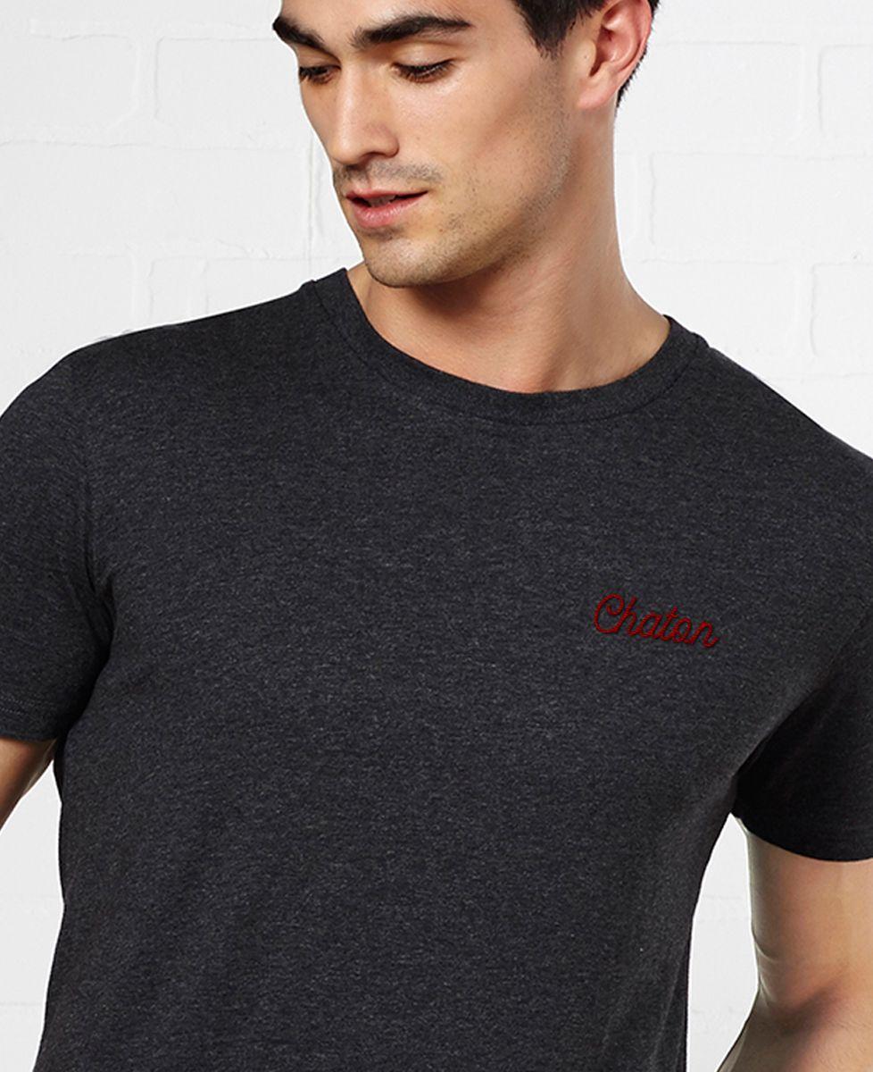 T-Shirt homme Chaton brodé