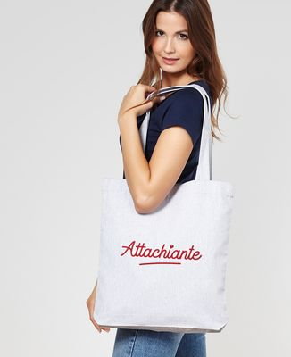 Tote bag Attachiante (effet velours)