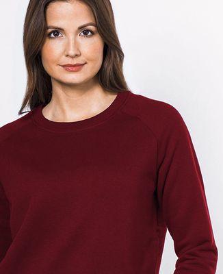 Sweatshirt femme Message brodé personnalisé