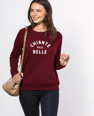 Sweatshirt femme Chiante mais belle