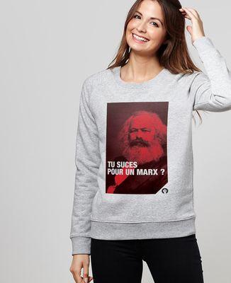 Sweatshirt femme Marx
