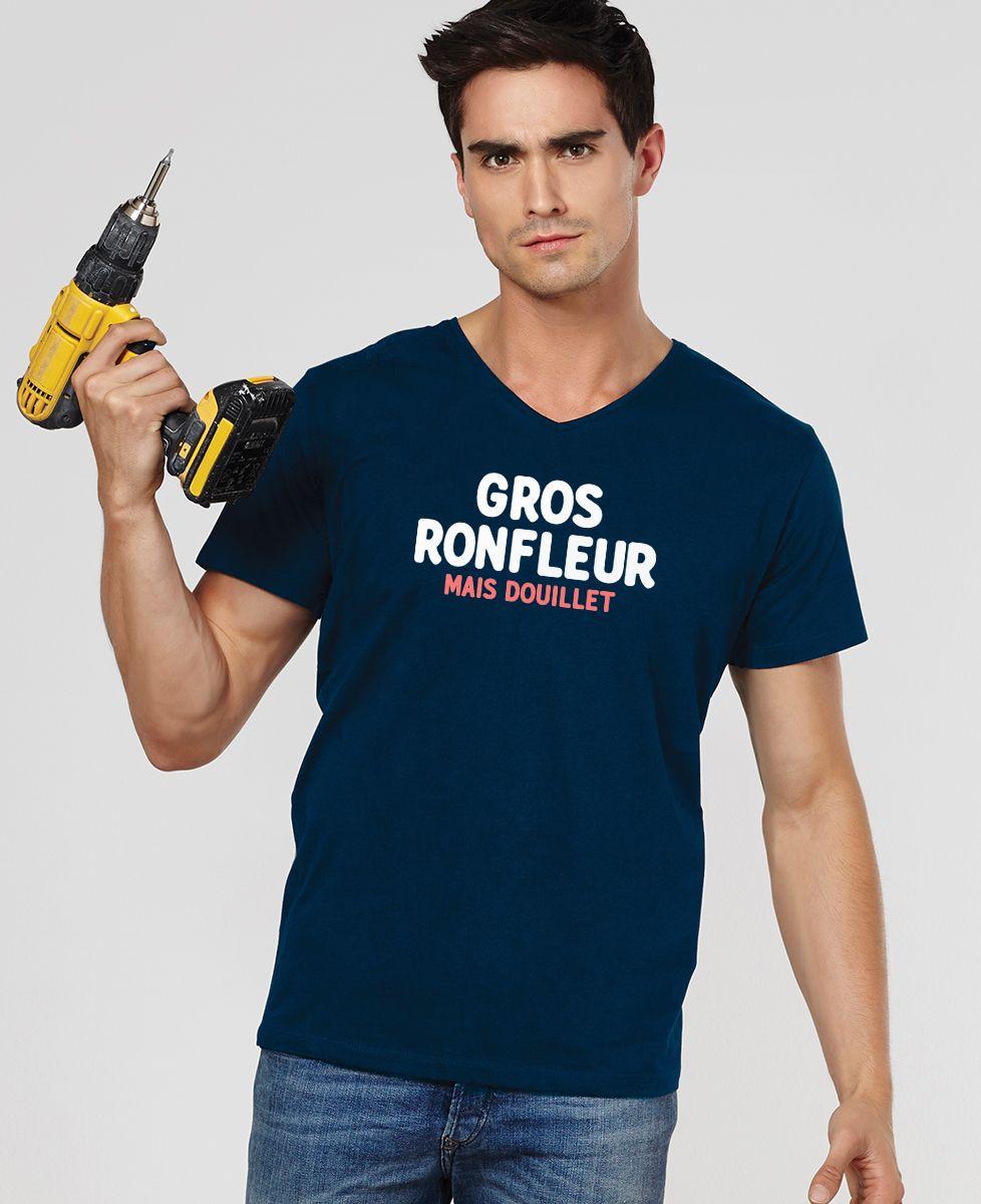 T-Shirt homme Gros ronfleur mais douillet