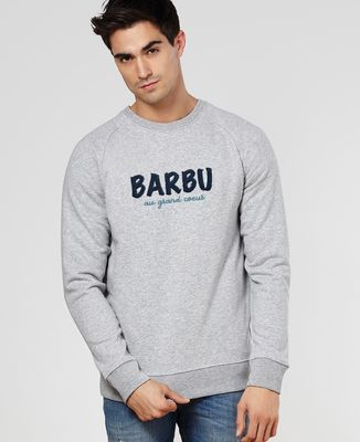 Sweatshirt homme Barbu au grand coeur
