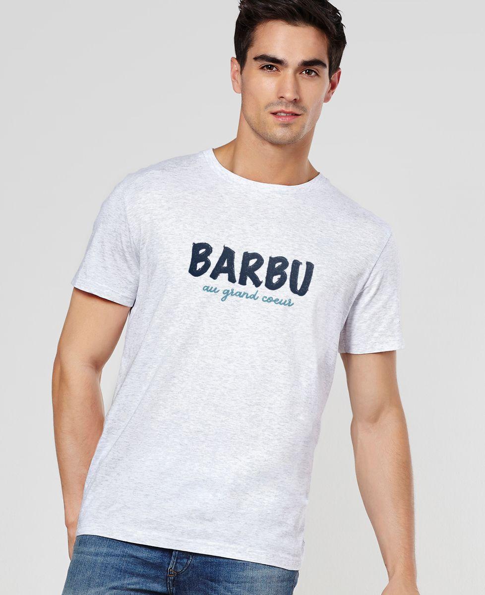 T-Shirt homme Barbu au grand coeur
