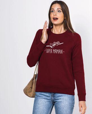 Sweatshirt femme Maman Super-héroïne