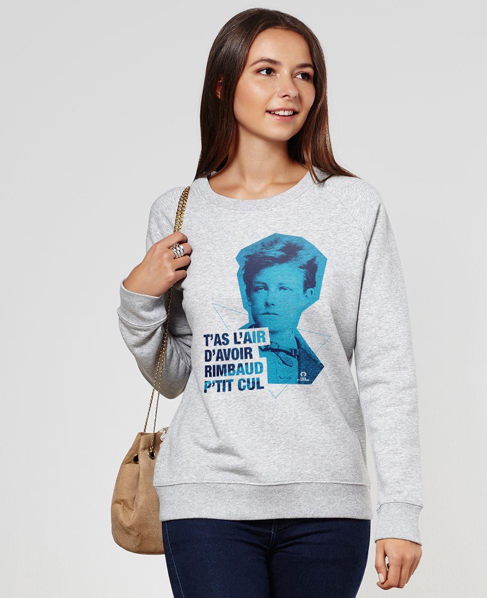 Sweatshirt femme Rimbaud Cut