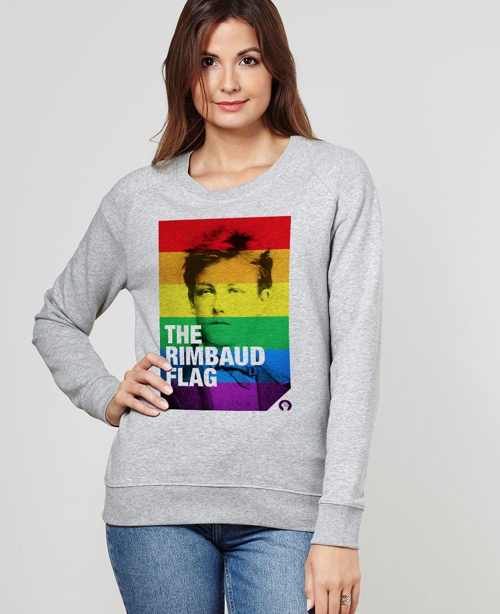 Sweatshirt femme Rimbaud Flag
