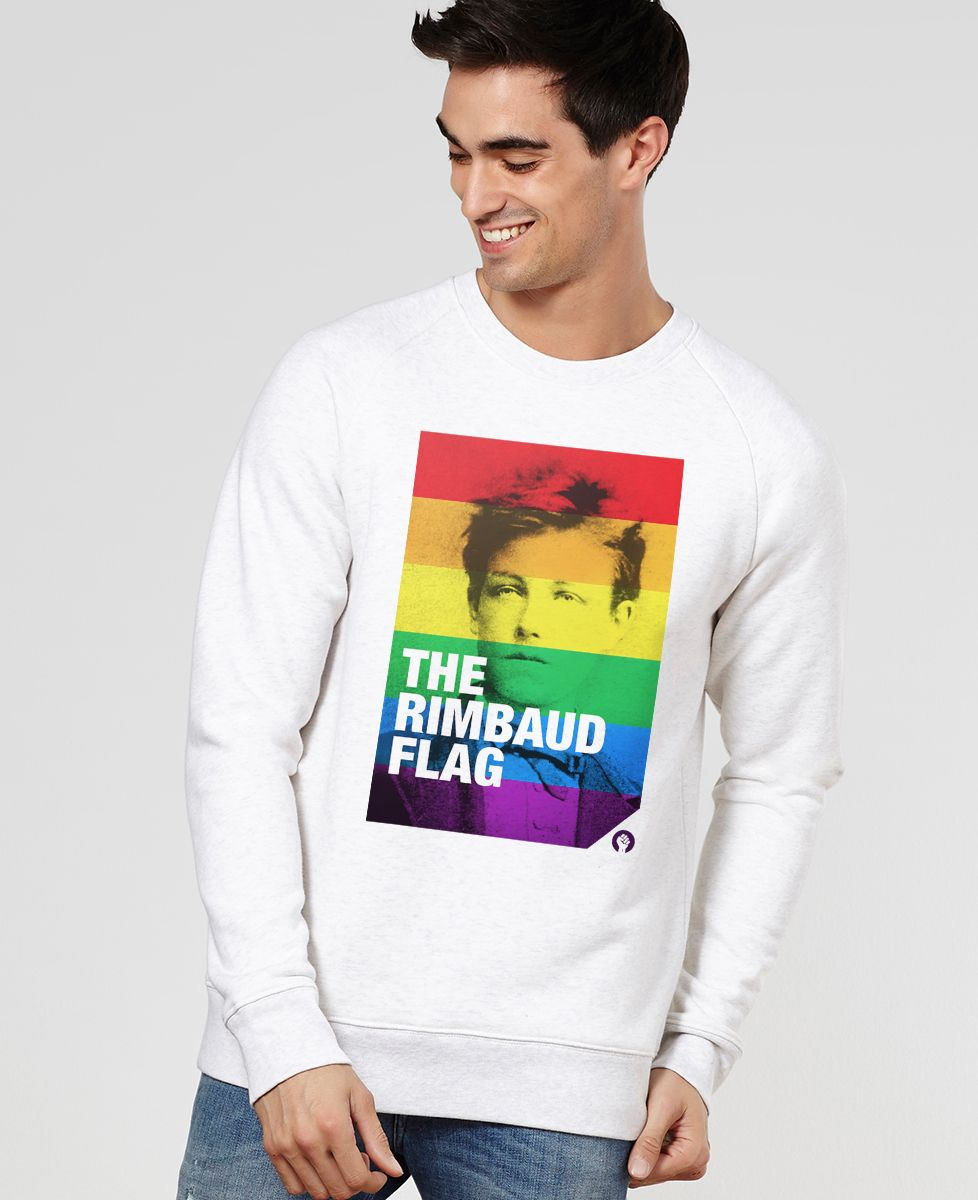 Sweatshirt homme Rimbaud Flag