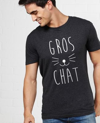 T-Shirt homme Gros chat