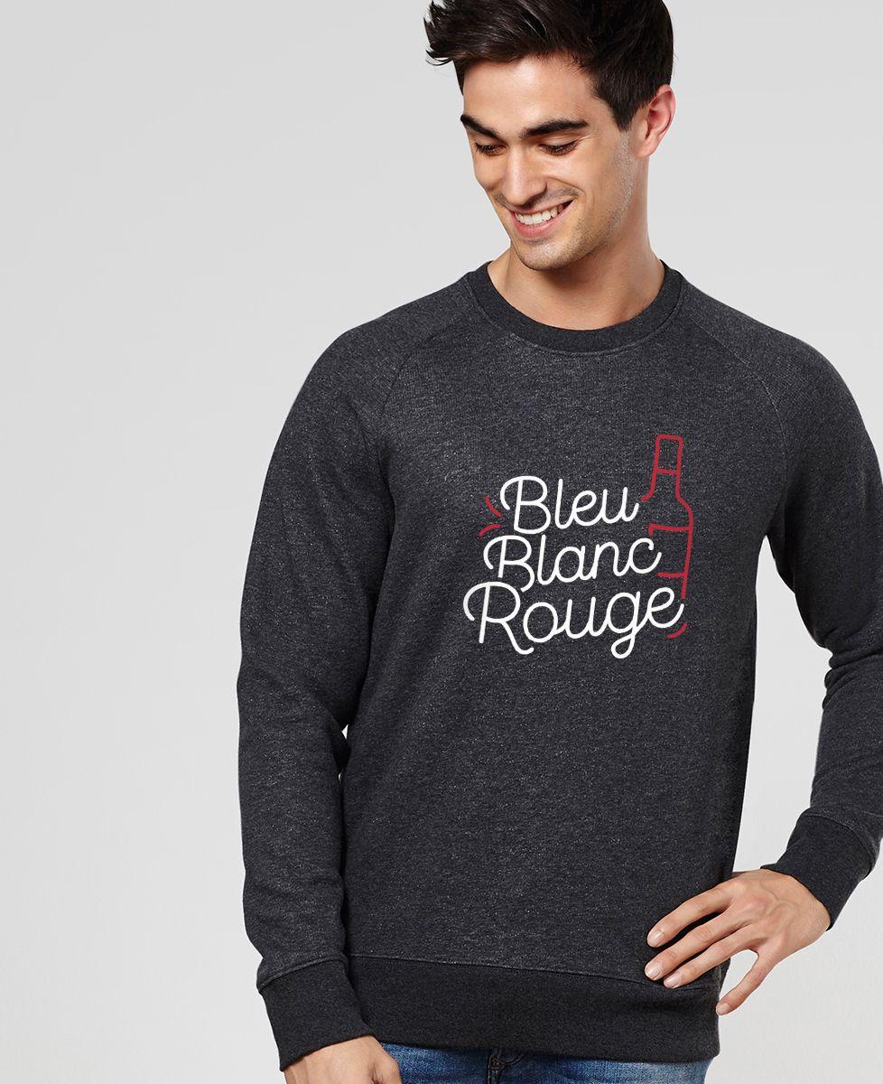Sweatshirt homme Bleu blanc rouge