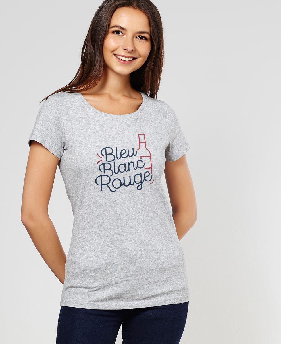 t shirt bleu blanc rouge madame tshirt mode femme. Black Bedroom Furniture Sets. Home Design Ideas