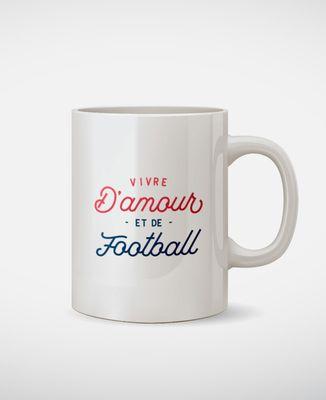 Mug Vivre d'amour et de football