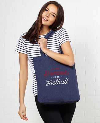 Tote bag Vivre d'amour et de football