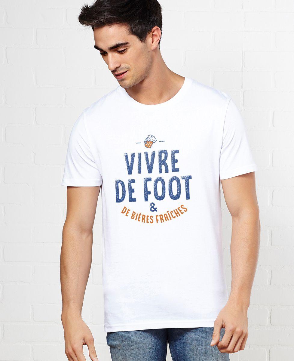 T-Shirt homme Vivre de foot