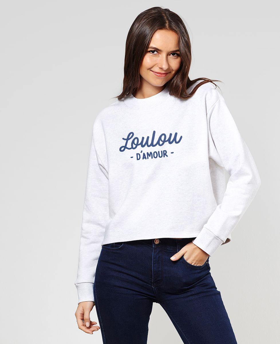 Sweatshirt femme Loulou d'amour
