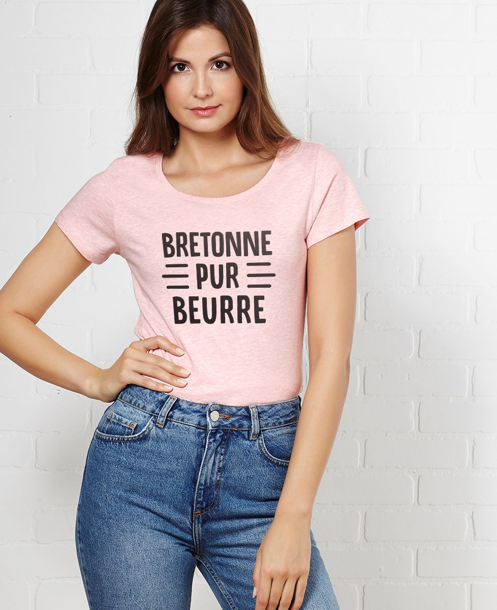 T-Shirt femme Bretonne pur beurre