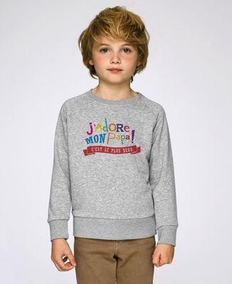 Sweatshirt enfant J'adore mon papa