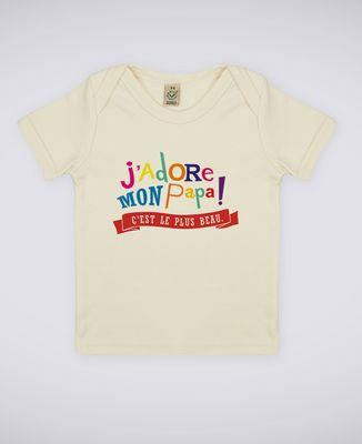 T-Shirt bébé J'adore mon papa