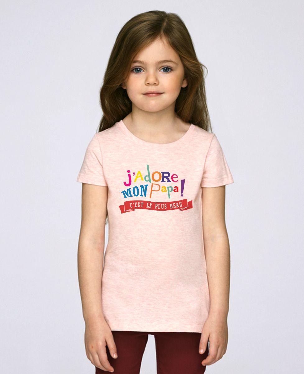 T-Shirt enfant J'adore mon papa