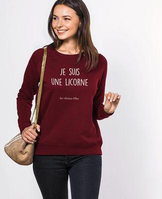 Sweatshirt femme Je suis une licorne