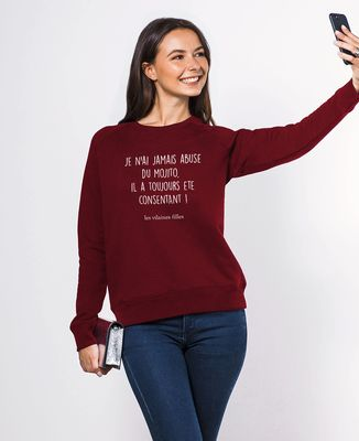 Sweatshirt femme Je n'ai jamais abusé