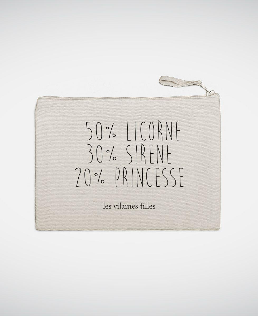 Pochette 50% licorne