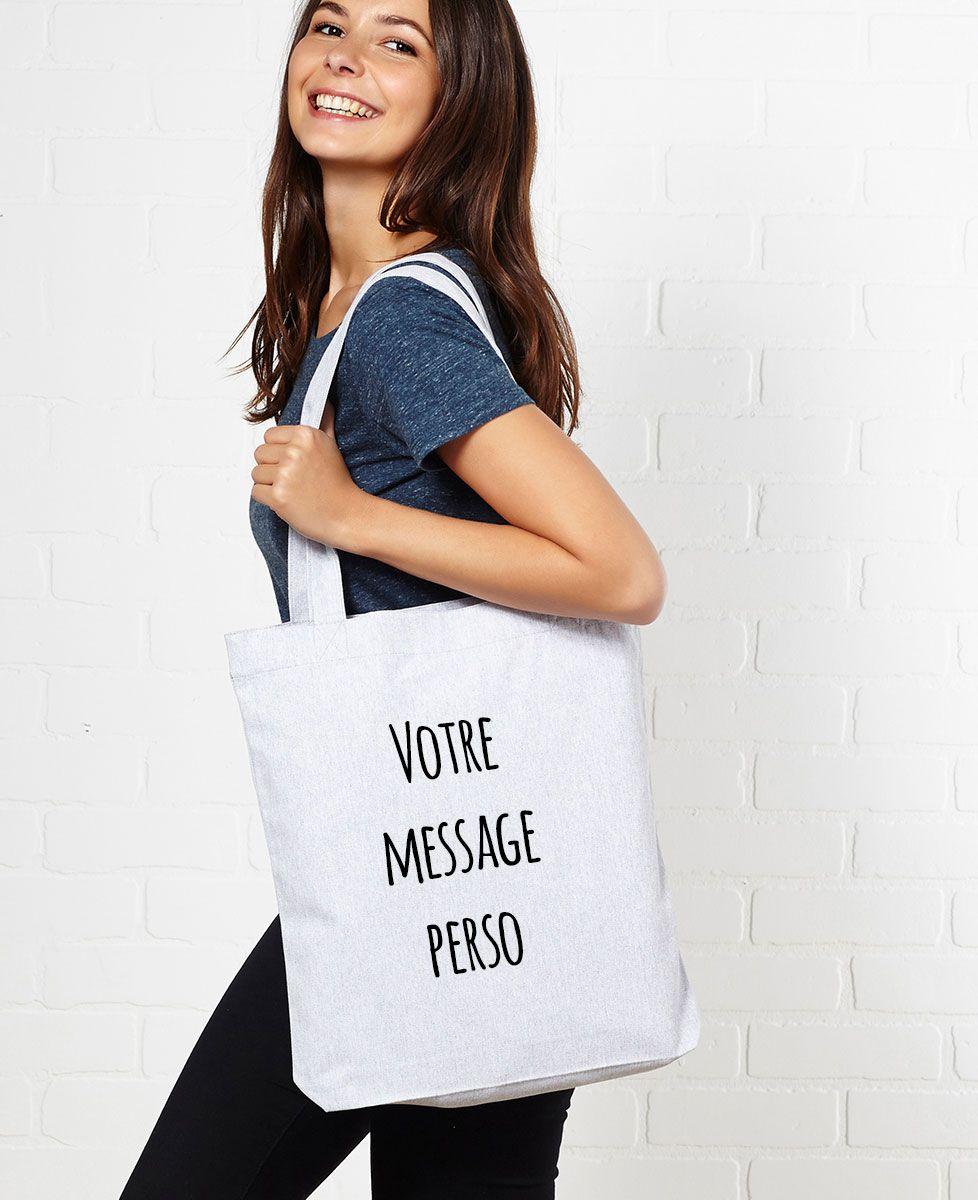 Tote bag Message imprimé personnalisé - Manuscrit