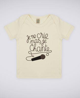 T-Shirt bébé Je chante