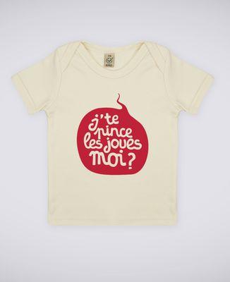 T-Shirt bébé J'te pince les joues moi