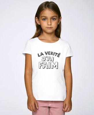 T-Shirt enfant La vérité j'ai faim