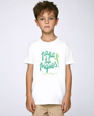 T-Shirt enfant Papa tu piques