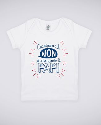 T-Shirt bébé Quand Papa dit non