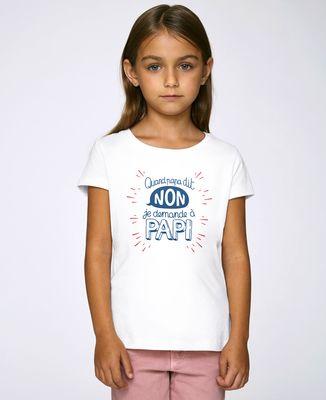 T-Shirt enfant Quand Papa dit non