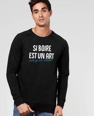 Sweatshirt homme Suis-je un artiste