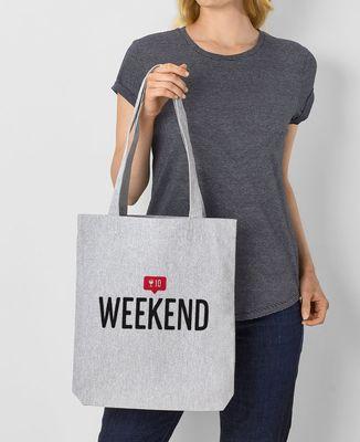 Tote bag Weekend