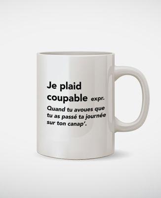 Mug Je plaid coupable