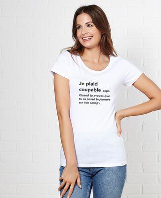 T-Shirt femme Je plaid coupable