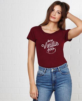 T-Shirt femme Je ne vieillis pas