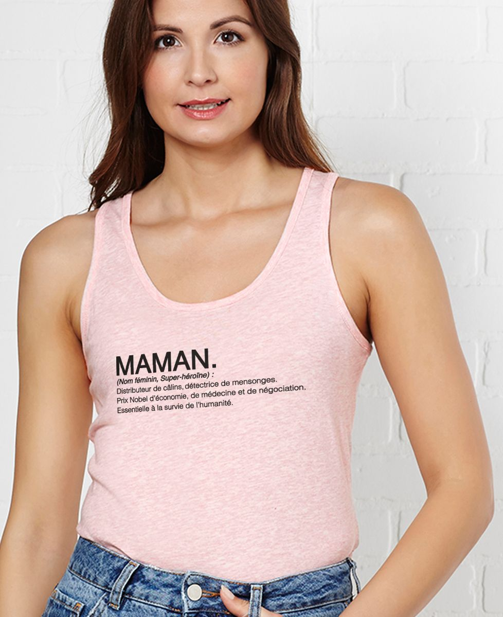 Débardeur femme Maman définition