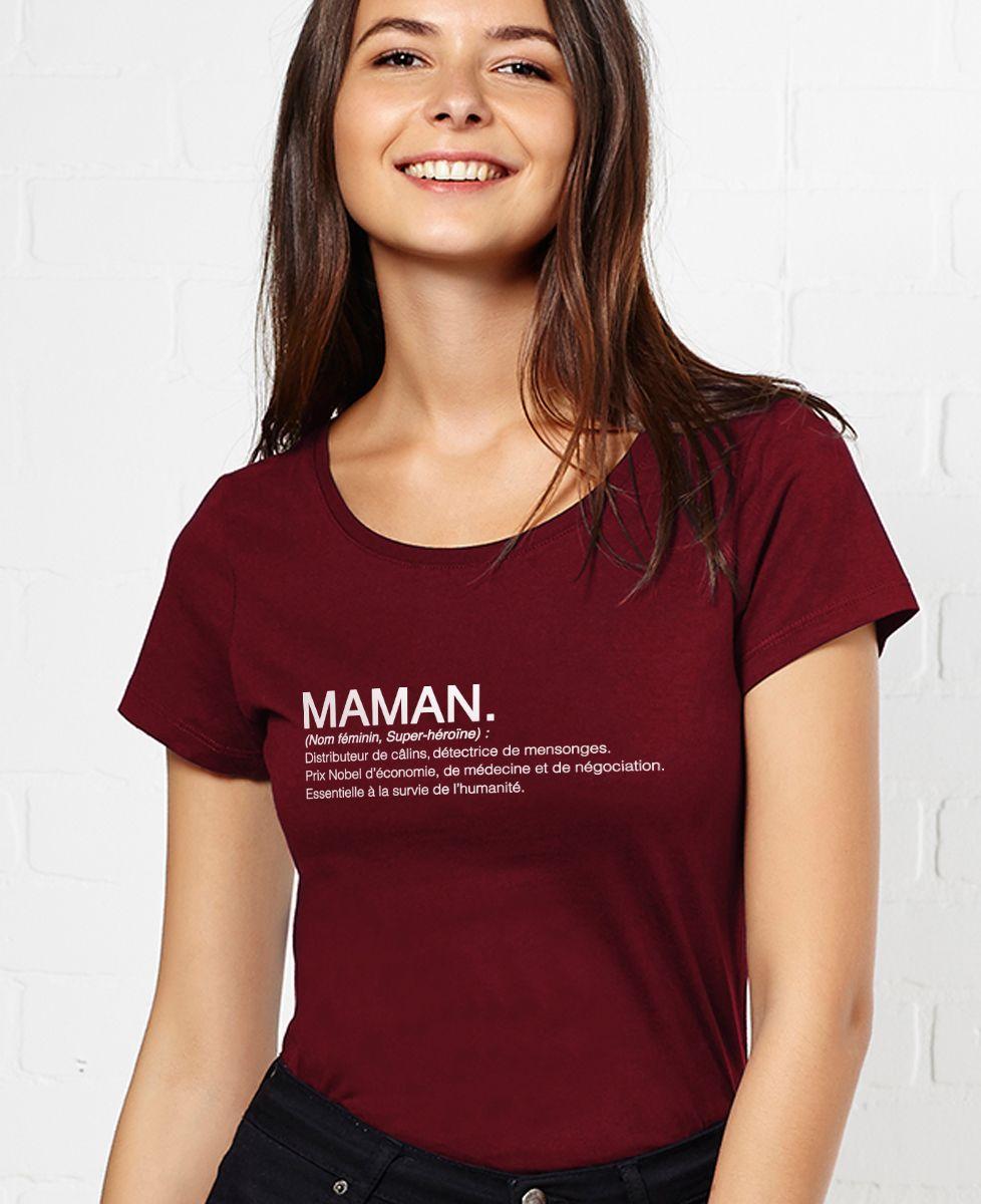 T-Shirt femme Maman définition